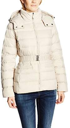 Benetton Women's Belted Down Long Sleeve Coat,(Manufacturer Size: 44)