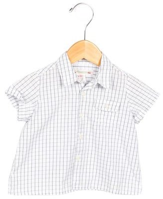 Bonpoint Girls' Checkered Button-Up Top $45 thestylecure.com