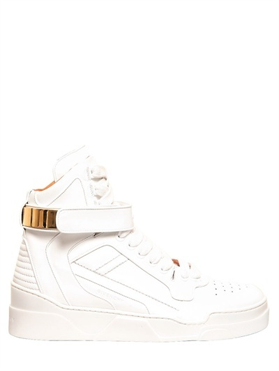 Givenchy Matte Leather High Top Sneakers