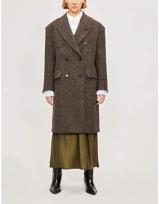 Calvin Klein Bouclé-textured wool-blend coat