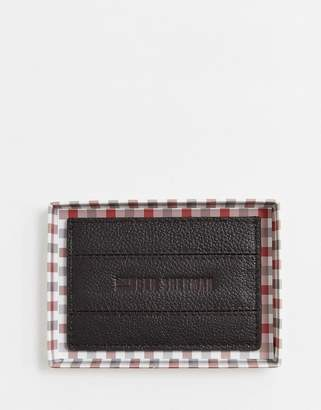 Ben Sherman leather card holder in brown