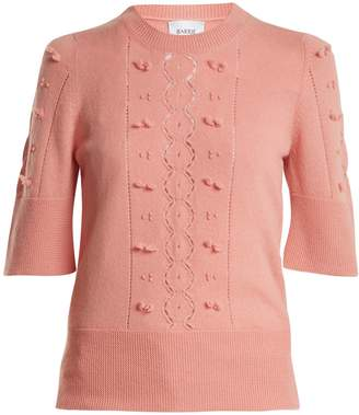 BARRIE Fluttering Lace crew-neck cashmere sweater