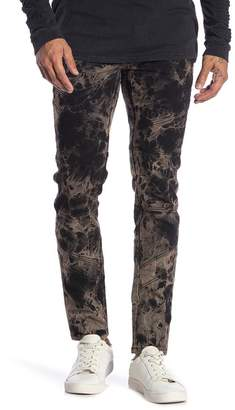 nANA jUDY Abstract Print Moto Skinny Jeans