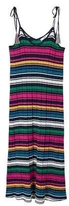 MANGO Metallic knit dress