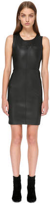 Mackage Paloma Fitted Stretch Leather Dress