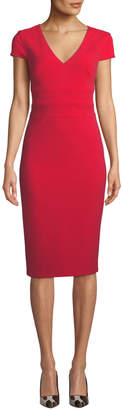 Donna Morgan Cap-Sleeve Crepe Sheath Dress