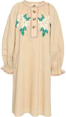 Antik Batik Zahid Embroidered Cotton-gauze Dress