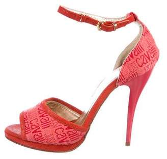 Just Cavalli Monogram Canvas Sandals