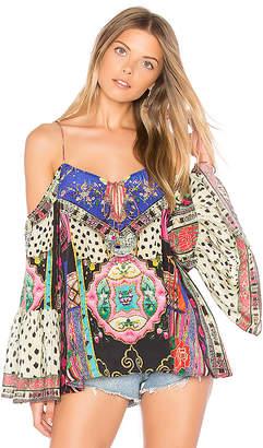 Camilla Drop Shoulder Top in Pink $400 thestylecure.com