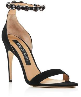 Sergio Rossi Women's Embellished Suede High-Heel Sandals
