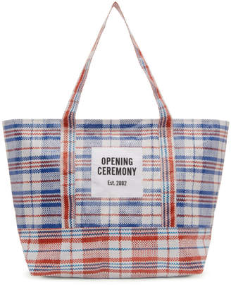 Opening Ceremony White and Red Medium Chinatown Tote