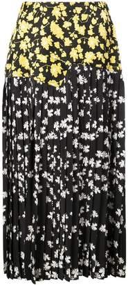 Derek Lam Pleated Skirt with Foldover Waist Detail
