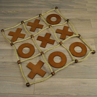 Garden Selections Deluxe Wooden Noughts And Crosses Game