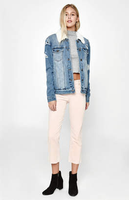 PacSun Pink Lemonade High Rise Crop Kick Jeans