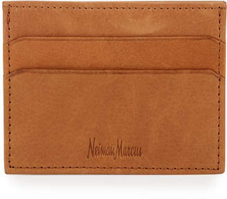 Neiman Marcus Leather Card Case, Tan