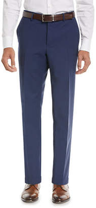 Incotex Matty Techno-Wool Flat-Front Trim Trousers