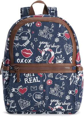 T-Shirt & Jeans T Shirt & Jeans Graffiti Denim Large Dome Backpack