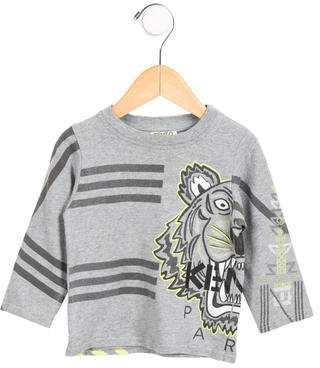 Kenzo Boys' Long Sleeve Logo Printed Shirt