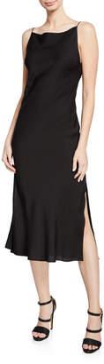 Milly Jenny High-Neck Strappy-Back Sleeveless Dress