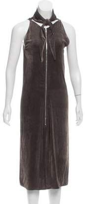 Rick Owens Velvet Tie-Accented Dress