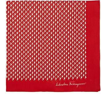 Salvatore Ferragamo Men's Nautical-Print Cotton Pocket Square