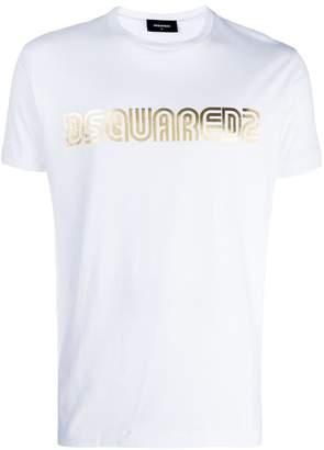 DSQUARED2 metallic logo T-shirt