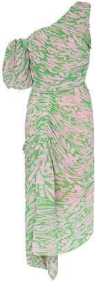 Preen by Thornton Bregazzi Jane asymmetric shoulder pleated dress