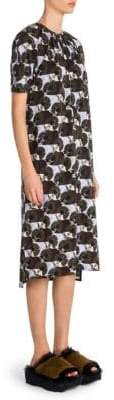 Marni Printed Jersey A-Line Dress