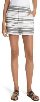 Joie Brusha Stripe Cotton Twill Shorts