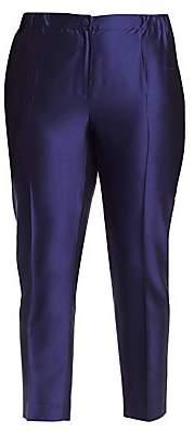 Marina Rinaldi Marina Rinaldi, Plus Size Women's China Blue Silk Pants