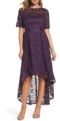 Women's Adrianna Papell High/low Lace Dress $249 thestylecure.com