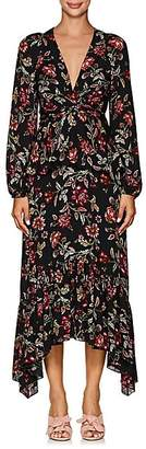 A.L.C. Women's Stanwyck Floral Silk Dress - Black