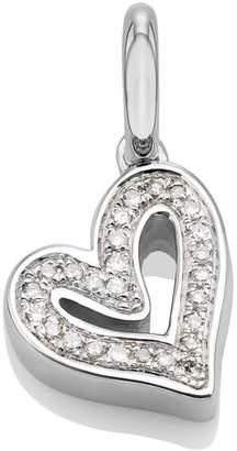 Monica Vinader Alphabet Heart Diamond Pendant