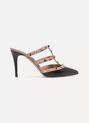 Valentino Garavani The Rockstud Leather Mules - Blush