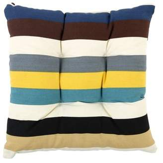 Unique Bargains Dining Square Tie-on Back Support Car Seat Chair Pillow Cushion Pad(Stripe 3)