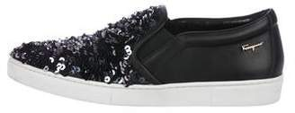 Salvatore Ferragamo Sequin Slip-On Sneakers