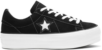 Converse One Star Platform Suede Low Top Trainers