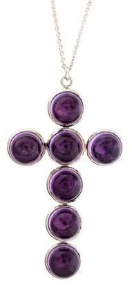 Syna Amethyst Cross Pendant Necklace