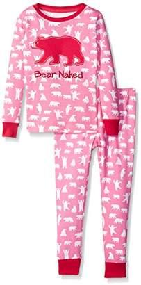 Hatley Little Blue House Girl's Long Sleeve Printed Pyjama Sets