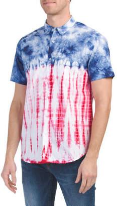 Short Sleeve Americana Tie Dye Shirt