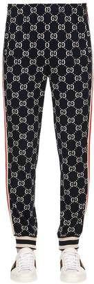 Gucci Gg Supreme Logo Cotton Jacquard Leggings