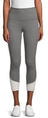 Addison Stripe-Paneled Mid-Calf Leggings