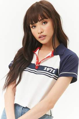 Forever 21 Striped 1971 Graphic Polo