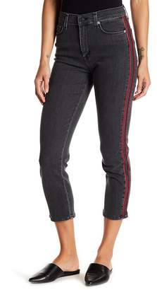 Hudson Zooey High Rise Ankle Stripe Straight Jeans