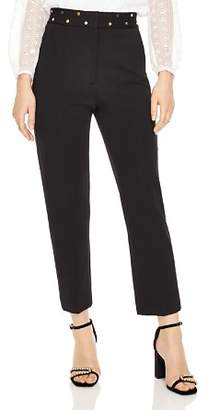 Sandro Aurores Studded Cropped Pants