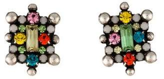 Dannijo Crystal Norea Stud Earrings
