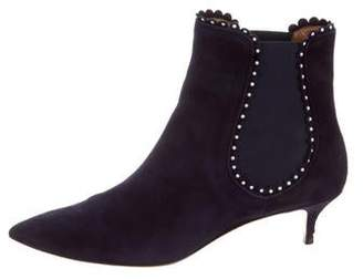 Aquazzura Suede Ankle Boots