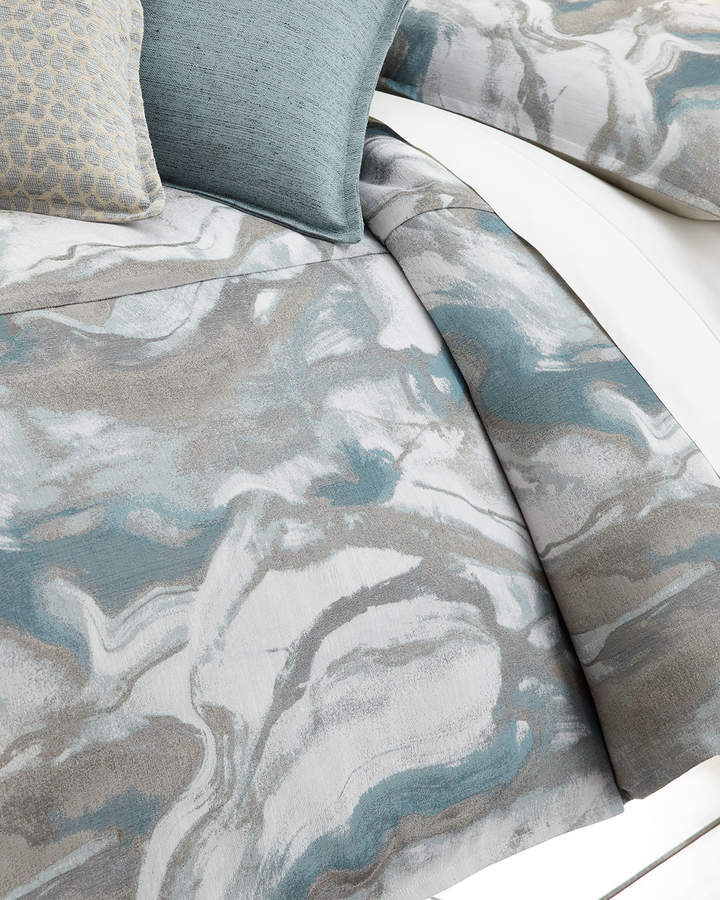 Isabella Collection by Kathy Fielder Queen Caspin Marbled Duvet Cover