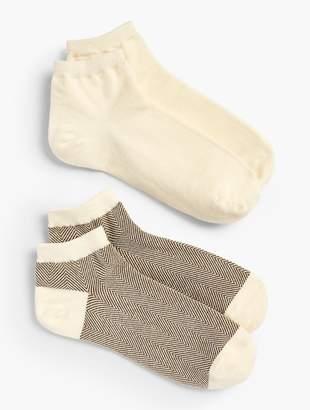 Talbots Herringbone Ankle Socks - 2 Pack