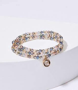 LOFT Stone Bead Stretch Bracelet